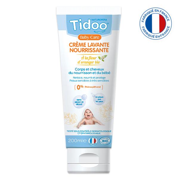 Tidoo - 2 Crèmes Lavantes Nourrissantes Bio 200ml