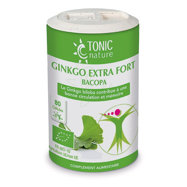 Tonic Nature - Ginkgo Extra Fort Bacopa x 80 gélules
