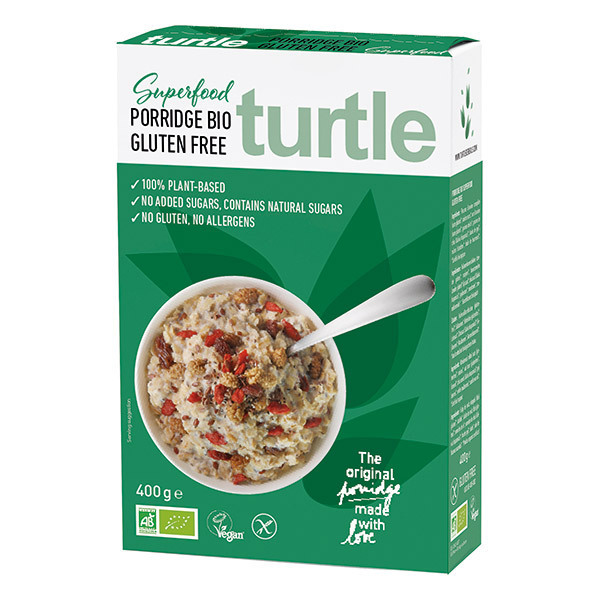 Turtle - Porridge aux Superfruits sans Gluten 450gr