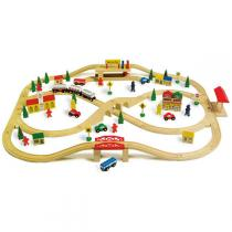 Equilibre et Aventure - Wooden Train Set 101 pieces