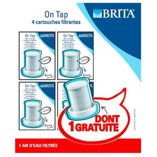 Brita - 4-Pack Tap Water Filter Replacement Cartridges