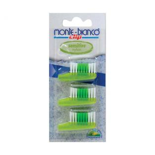 Monte-Bianco - Adult Toothbrush Heads - Sensitive - Pack of 3