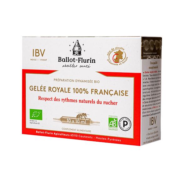 Ballot-Flurin - Gelée Royale Bio 10 ampoules
