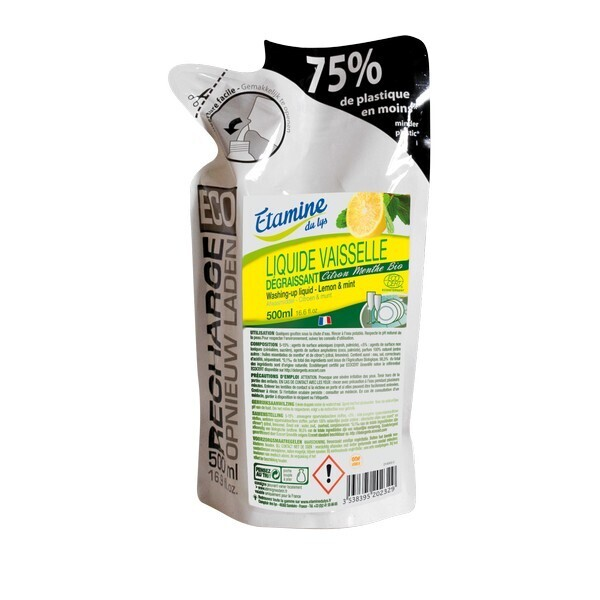 Etamine du Lys - Liquide vaisselle citron-menthe ecorecharge 500ml