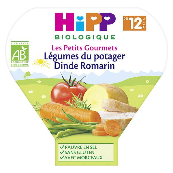 Hipp - Légumes du potager dinde romarin