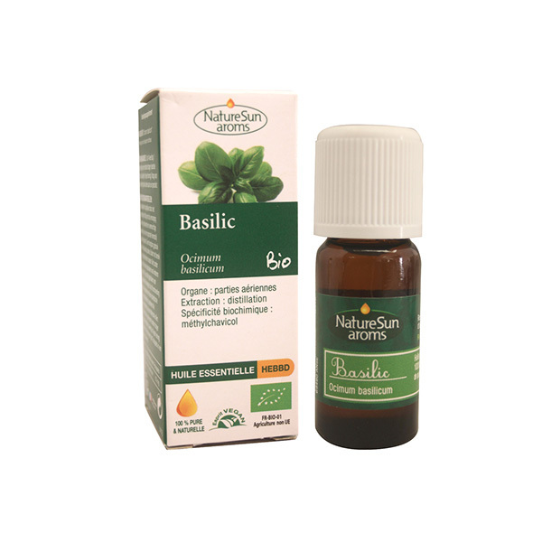 NatureSun Aroms - Huile Essentielle Basilic BIO 10mL