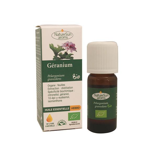 NatureSun Aroms - Huile Essentielle Géranium BIO 10mL