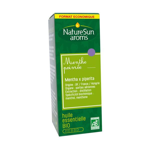 NatureSun Aroms - Huile Essentielle Menthe Poivrée BIO 30mL