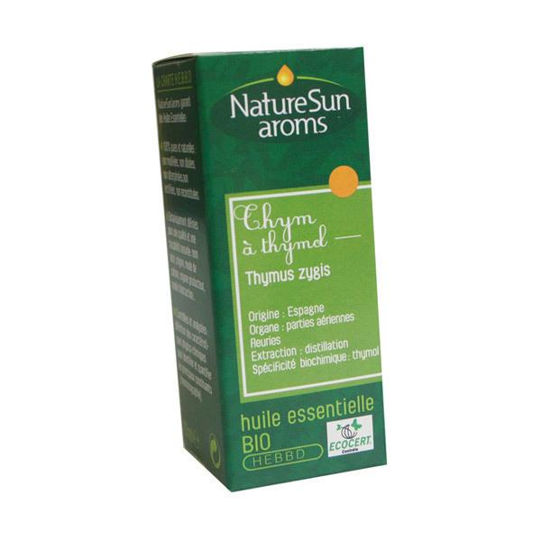 NatureSun Aroms - Huile Essentielle Thym à Thymol BIO 10mL