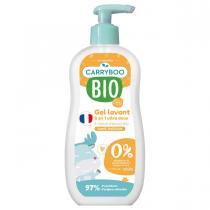 Carryboo - 2x Gel Lavant Doux 2 en 1 BIO Sans Parfum (500ml)