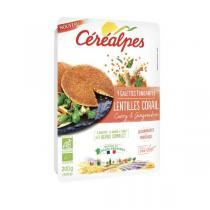 Céréalpes - Galettes lentilles corail curry gingembre 200g
