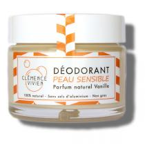 Clémence et Vivien - Déodorant en baume Vanille peau sensible 50g