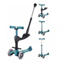 Micro - Porteur trottinette Mini 3in1 Deluxe Plus Ice blue de 1 a 5 ans