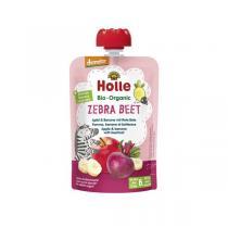 Holle - Gourde Zebra Beet pomme banane betterave 100g