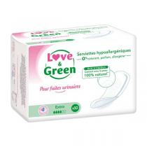 Love & Green - 10 Serviettes incontinence Extra