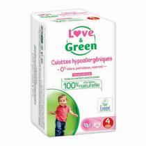 Love & Green - Pack 4 x 20 Culottes apprentissage T4 Maxi 8-15kg