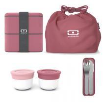 monbento - Pack boîte Bento MB Square et accessoires Blush