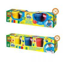 SES Creative - Kit pâte à modeler et peinture aux doigts - Dès 1 an