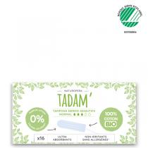 Tadam' - 3x16 Tampons en Coton BIO Non-Irritants, Normal