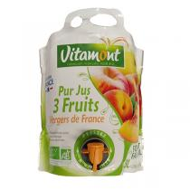 Vitamont - Pur jus 3 fruits du verger de France 3L