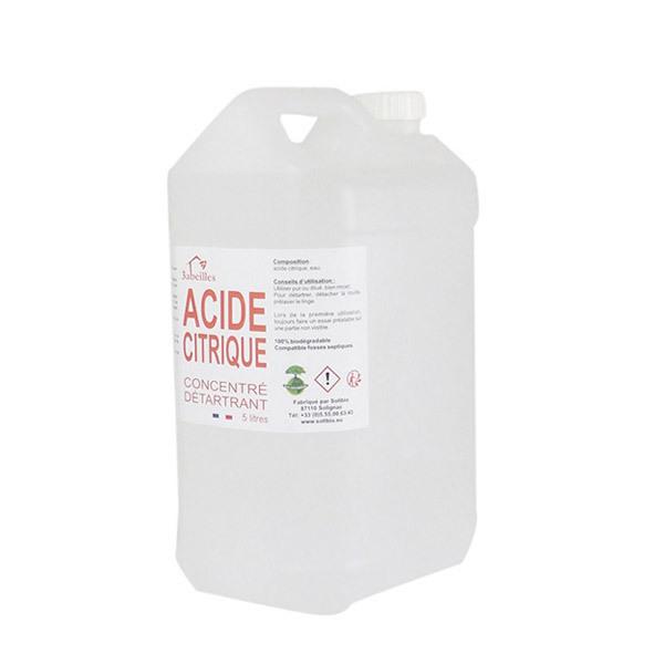 3 Abeilles - Acide citrique liquide 5L