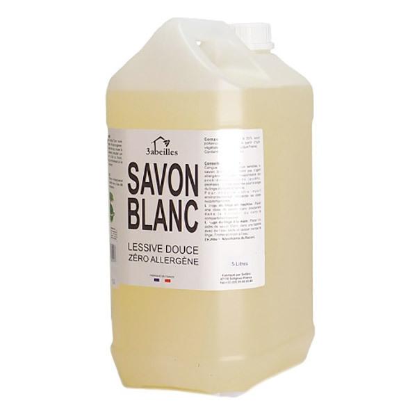 3 Abeilles - Lessive neutre savon blanc sans allergène 5L