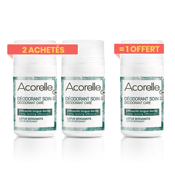 Acorelle - Offre Déodorant lotus bergamote 50ml 2+1
