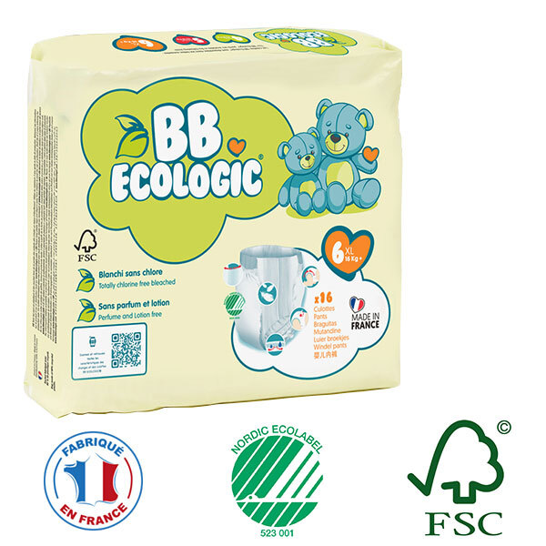BB Ecologic - Lot de 4 x 16 culottes d'apprentissage T6 16-30Kg