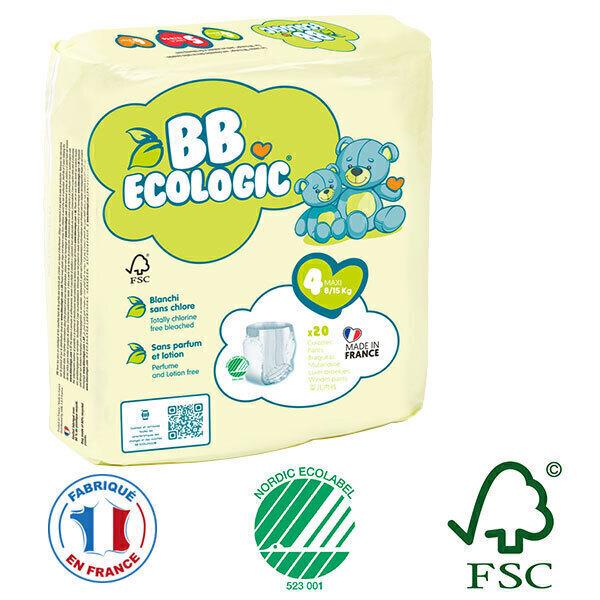 BB Ecologic - Pack 4x20 culottes d'apprentissage T4 8-15Kg
