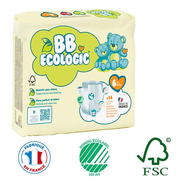 BB Ecologic - Pack 8x16 culottes d'apprentissage T6 16-30Kg