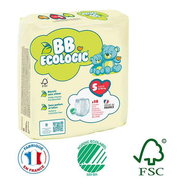 BB Ecologic - Pack 8x18 culottes d'apprentissage T5 12-18Kg