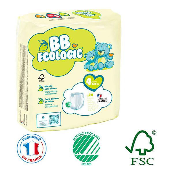 BB Ecologic - Pack 8x20 culottes d'apprentissage T4 8-15Kg