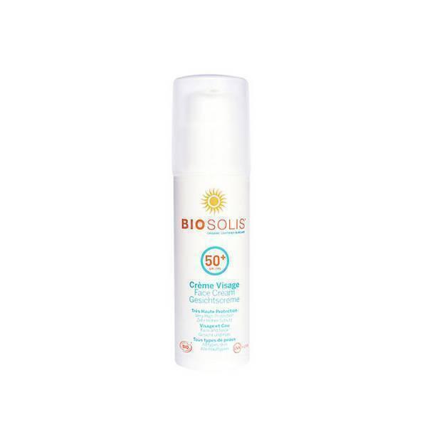 Biosolis - Crème solaire visage SPF50+ 50ml