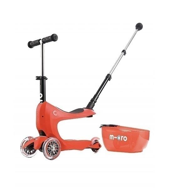 Micro - Porteur trottinette Mini 2Go Deluxe Rouge de 1 a 5 ans