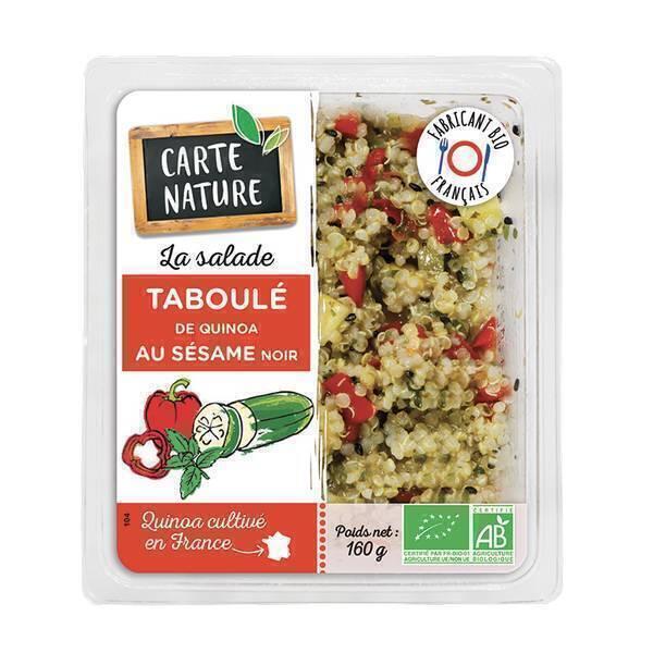 Carte Nature - Taboulé quinoa sésame noir 160g