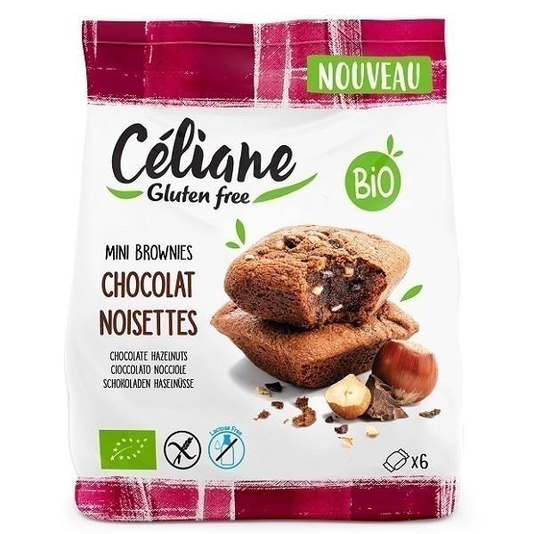 Céliane - Mini Brownies chocolat noisette 170g