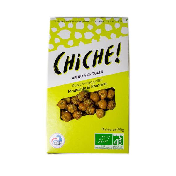 CHICHE - Pois chiches grillés à la moutarde et au romarin à croquer 90g