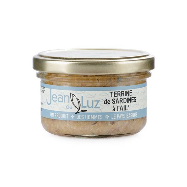 Conserverie Jean de Luz - Terrine de sardines à l'ail 85g