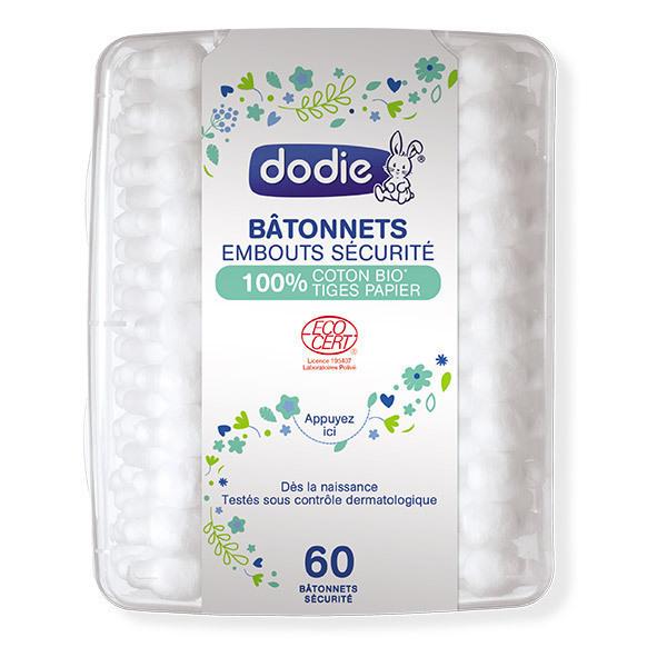 Dodie - Bâtonnets bébé BIO GOTS x 60