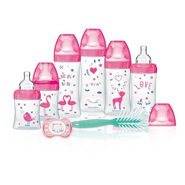 Dodie - kit Biberons nouveau-né rose