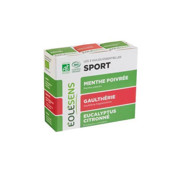 Eolesens - Trio Sport : 3 huiles essentielles 10ml