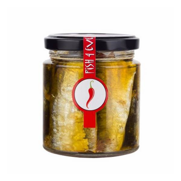 Fish4Ever - Sardines pimentées, olives et tomates séchées 220g