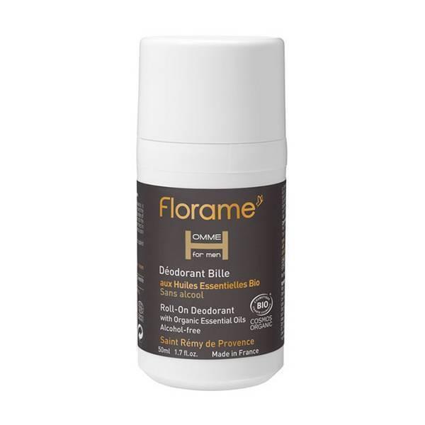 Florame - Déodorant bille pour homme aux huiles essentielles 50ml
