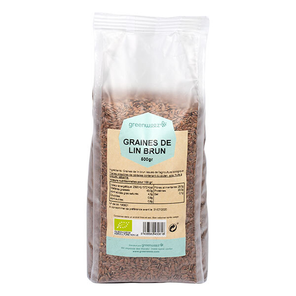 Greenweez - Graines de lin brun Bio 500g