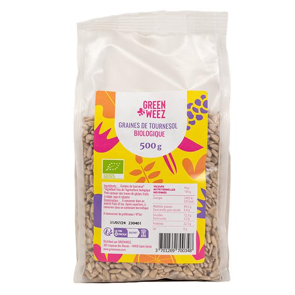 Greenweez - Graines de tournesol décortiquées Bio 500g