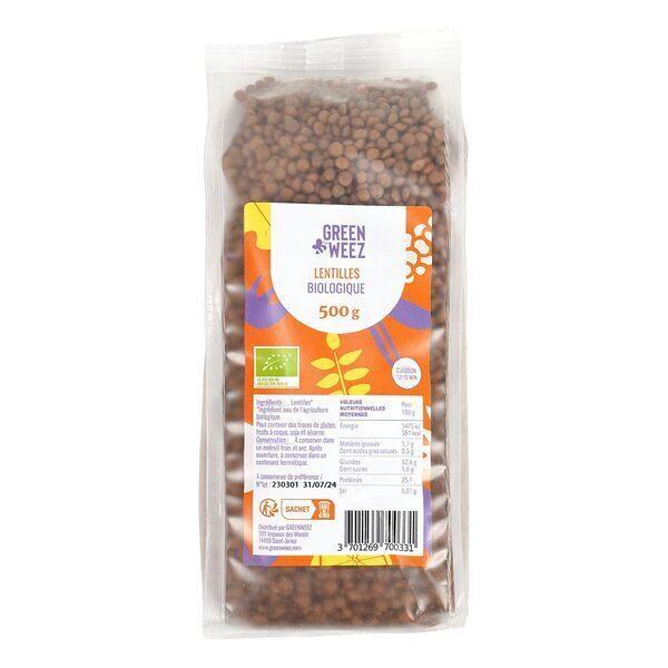 Greenweez - Lentilles bio 500g