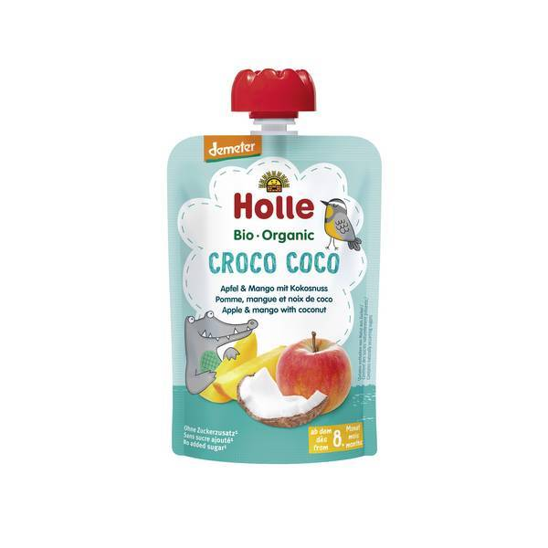 Holle - Gourde Croco Coco pomme mangue coco 100g
