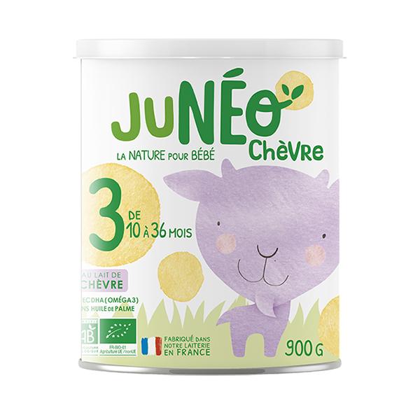 Junéo - Lait de chèvre infantile bio 3ème âge 900g - De 12 à 36 mois