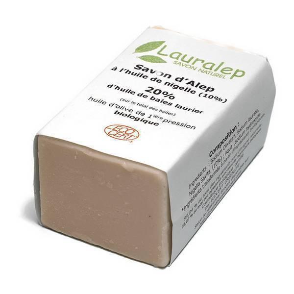 Lauralep - Savon d'Alep 20% à l'huile de Nigelle 150g