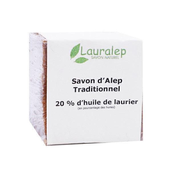 Lauralep - Savon d'Alep traditionnel 20% 200g